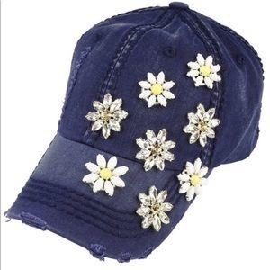 Daisy Flower Power Cap in Navy